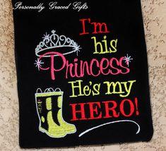 Fireman Daddy I'm His Princess He's My Hero with