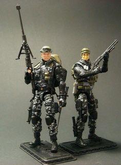 GI Joe POC Lowlight and Tunnel Rat Custom Figure lot by Darksider80