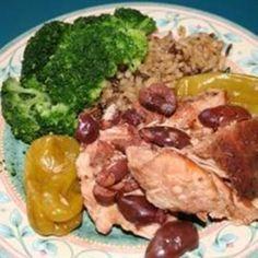 Mediterranean Chicken with Pepperoncini and Kalamatas