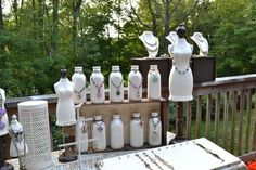 Unusual Craft Fair Displays Painted Milk Bottles