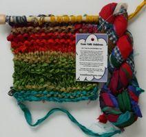 Sari Silk Ribbon by Darn Good Yarn - yarn review from Love of Knitting's 52 Weeks of Yarn