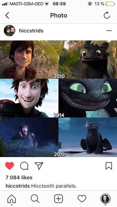 Hiccup and Toothless' smile through the years This Might Be The Most Adorable Thing Ever. What would beth think lol