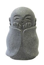 This addorable Jizo is a hand carved solid granite reproduction of the one in…