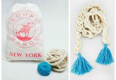 DIY Kit - Flower Child Tassel Scarf available on loopymango.com