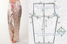 New sewing clothes pajamas free pattern Ideas Dress Sewing Patterns, Sewing Patterns Free, Clothing Patterns, Free Pattern, Sewing Pants, Sewing Clothes, Diy Clothes, Costura Fashion, Pajama Pattern