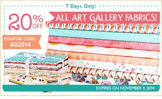 FQS - All Art Gallery fabric is 20% off!