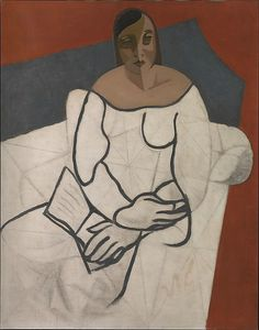 Juan Gris (Spanish, 1887–1927), Woman Reading, 1927. Oil and pencil on canvas, 91.7 × 73 cm.