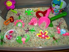 Sensory Bin - Flower Garden