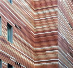 "VNBK™ Terracotta Façade Panels - This facade just screams ""STRIP QUILT""."