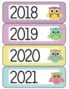 Calendar Year Labels Owl Theme by Justine Greenlee Owl Classroom Decor, Classroom Calendar, Classroom Rules, Preschool Classroom, Classroom Themes, Classroom Teacher, Lottery Result Today, Feather Crafts, Yearly Calendar