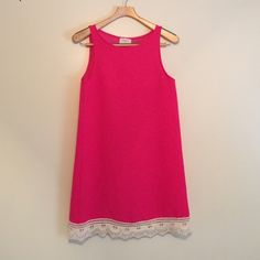 Anthropologie  Everly Vintage cut dress hot pink In excellent used condition Anthropologie Dresses