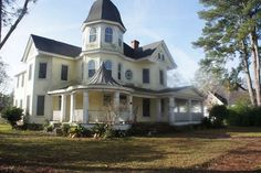 TERRELL COUNTY VICTORIAN BEAUTY WITH IN-GROUND POOL & TRIPLE GARAGE! BUY WITH NO MONEY DOWN, USDA 100% FINANCING! CHARACTER & CHARM! Built in 1890 & restored w love, this 5 bedroom 3 bath home w 4968 sqft is ready to move in! Wrap Around Porches! 12 ft ceilings throughout! Hardwood floors in almost every room! 5 FIREPLACES! 2 MASTER SUITES! Grand Foyer Entrance w stunning staircase w tons of details! Formal living room, formal dining room w hardwood floors, fireplaces, built-ins ...