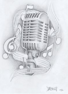 mic with notes by akadrowzy on DeviantArt