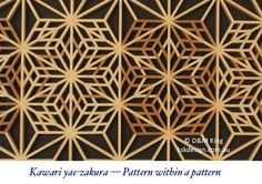 Sakura and variations - Sakura (桜) is Japanese for cherry blossom, and this attractive pattern lends itself to many variations that can add tremendous interest to a piece.