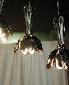 Deko-Idee - Effektvolle Lampen aus Teelöffel