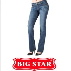 Big Star Maddie Bootcut Jeans Big Star Maddie Bootcut Jeans. Size 27 which is a 4. 27L. 8 in rise (mid). Inseam is 33 inches. Embroidered back pockets. Gently worn, great condition. Feel free to make an offer. Big Star Jeans Boot Cut