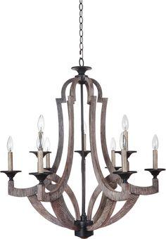 Dining room chandelier!!!! Amazon.com - Jeremiah 35129-WP, Winton Large 1 Tier Chandelier Lighting, 9 Light, 180 watt, Weathered Pine -