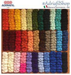 #adriafilshop da Gomitolando   Buon lunedì con questo arcobaleno di colori! Di che colore sei oggi?