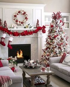 Unique and beautiful Christmas apartment decor.