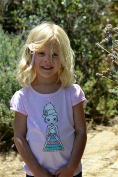 Pink Princess Doll Print Tshirt Size 4