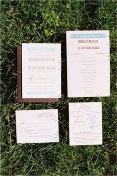 Wedding Invitations: Photo by Ben Q. Photography on Wedding Chicks