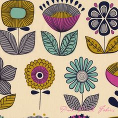 Love this - already the color scheme I have for her room... wish I had saw this earlier! Alexander Henry Mecca For Moderns Urban Garden Natural