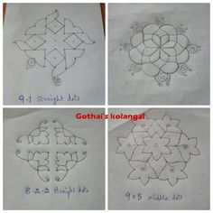 Indian Rangoli Designs, Simple Rangoli Designs Images, Rangoli Designs Latest, Rangoli Designs Flower, Rangoli Border Designs, Rangoli Patterns, Rangoli Designs With Dots, Beautiful Rangoli Designs, Pattern Design Drawing