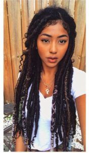 Faux locs is a hairstyle similar to box braids whereas faux locs are intended to be a permanent extension of your hair. Faux locs are installed by twisting or braiding the real hair and then wrapping additional hair around the shaft of the braid. Box Braids Hairstyles, My Hairstyle, Protective Hairstyles, Hairstyles 2018, Marley Twist Hairstyles, Hairstyles Videos, Fashion Hairstyles, Formal Hairstyles, Hair Styles