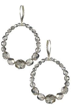 My smoke earrings. Milli Petit Cut Crystal in Smoke.