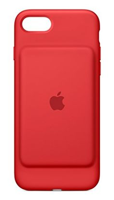 Apple Battery Case for iPhone 7 - Red  http://topcellulardeals.com/product/apple-cell-phone-case-for-iphone-7/?attribute_pa_color=red&attribute_pa_customerpackagetype=standard-packaging  Charge your iPhone and battery case simultaneously for increased Talk time up to 26 hours, internet use up to 22 hours on LTE, and even longer audio and video playback With the smart battery case on, the intelligent battery status is displayed on the iPhone lock screen and in notification cen