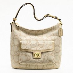 'Coach Penelope Linen Convertible Shoulder Bag' is going up for auction at  1pm Mon, Feb 4 with a starting bid of $80.