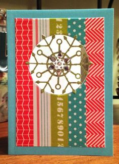 Pretty Card by Jana using a Simon Says Exclusive Die and Exclusive Kelly Purkey Washi Tapes.  December 2013