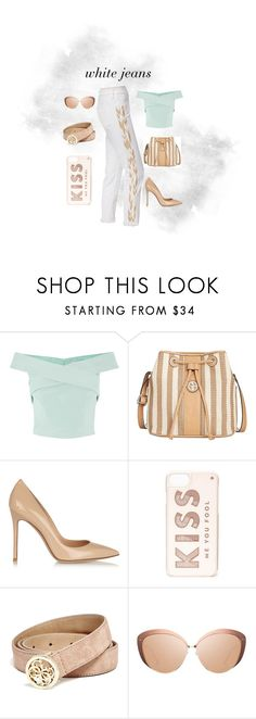 """Hurry summer!"" by maryg0304 on Polyvore featuring Coast, Giani Bernini, Gianvito Rossi, Kate Spade, GUESS, Linda Farrow and AG Adriano Goldschmied"