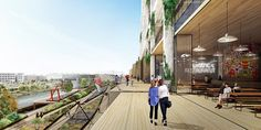 BIG Unveils Mixed-Use Concrete Superstructure for Los Angeles' Arts District,Courtesy of BIG