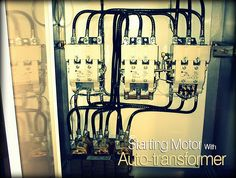 An auto-transformer starter makes it possible to start squirrel-cage induction motors with reduced starting current, as the voltage across the motor is reduced during starting.    In contrast to the star-delta connection, only three motor leads and terminals are required. On starting, the motor is connected to the tappings of the auto-transformer; transformer contactor K2M and star contactor K1M are closed.