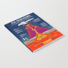 The Volcanoes Notebook by grafokids Volcanoes, Journal Entries, Notebook, Products, Journal, Volcano, Beauty Products, Exercise Book, The Notebook