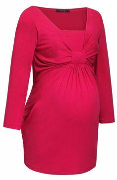 9fashion Lascana II bluzka różowa Urocza bluzka ciążowa, dostępna w trzech modnych kolorach, na wysokości biustu ozdobne marszczenie
