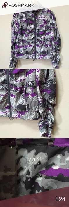 Calvin Klein lightweight jacket This is a Calvin Klein Performance quick dry lightweight jacket in excellent condition. Size medium. There are two front pockets. Fabric includes 100% polyester for the body and the lining. Calvin Klein Jackets & Coats