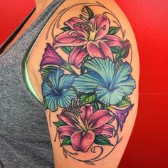 """""""Colored this in last weekend. Good Tattoo Quotes, Quote Tattoos, Girl Tattoos, Tatoos, Black Girls With Tattoos, Tattoos For Women, Color Tattoo, I Tattoo, Tattooed Women"""