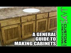 A general guide to making cabinets