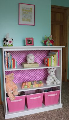 Love the colours and love this bookshelf