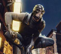 Image result for spider man ps4 noir suit Marvel Vs, Marvel Comics, Spider Man 2018, Spider Verse, Coldplay, Marvel Universe, Spiderman, Leather Jacket, Hero