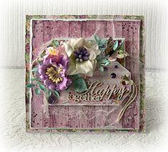 Handmade card wedding card engagement card by CarmenHandCrafts