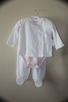 NWT Cuddle Bear Collection 3 Pc Velvety  Outfit  6/9M Lacey and Gorgeous