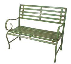 Farmhouse Outdoor Benches, Metal Garden Benches, Wicker Furniture, Furniture Sets, Outdoor Furniture, Outdoor Decor, Amish Crafts, Bistro Set, Antique Decor
