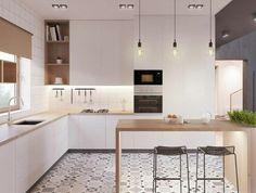 138 Awesome Scandinavian Kitchen Interior Design Ideas www.futuristarchi… 138 Awesome Scandinavian Kitchen Interior Design Ideas www. Best Kitchen Designs, Modern Kitchen Design, Interior Design Kitchen, Modern Interior, Modern Design, Modern Kitchens, White Kitchen Decor, Rustic Kitchen, New Kitchen