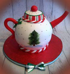 Christmas - Handpainted Christmas Teapot