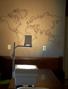 world map mural - diy instructions
