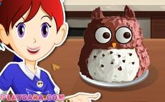 New Easy Cake : owl cake, Biryani, Pavlova, Sara's Cooking Class, California Rolls, Falafel, Games For Girls, Churros, Pop Tarts, Owl
