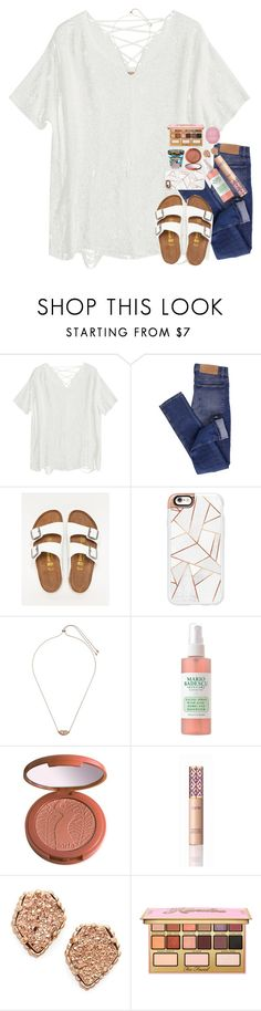 """tomorrow is picture day at my school!!"" by sdyerrtx ❤ liked on Polyvore featuring Cheap Monday, Birkenstock, Casetify, Kendra Scott, Mario Badescu Skin Care, tarte, Cotton Candy, Kandee and Topshop"